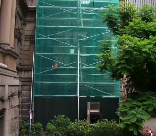 Erect Scaffold To The Side Of The Front In 2011