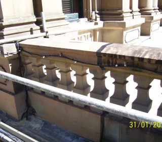 Balustrade Coping Half Cleaned
