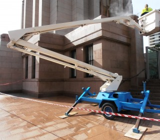 Cleaning Podium to Ground Level 1